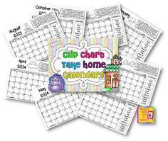 Clip Chart Behavior Management Plan- have kiddos color in the color of their clip that day for each day of the year
