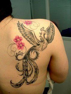 girly phoenix tattoos