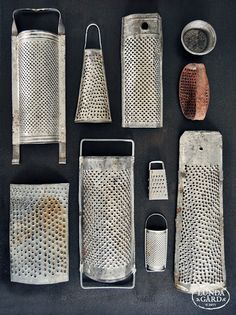 Many a cook scraped their knuckles on these graters....