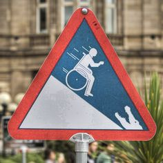Wheelchair funny sign by Chris Radley, via Flickr