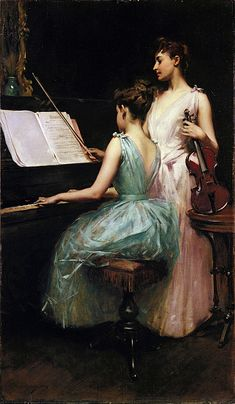 Fine Art giclee canvas reproduction on canvas. Buy online, a copy of the The sonata painting by the artist Irving Ramsay Wiles. Arte Do Piano, Piano Art, Piano Room, Mo S, Beautiful Paintings, American Artists, Art Google, Oeuvre D'art, Female Art