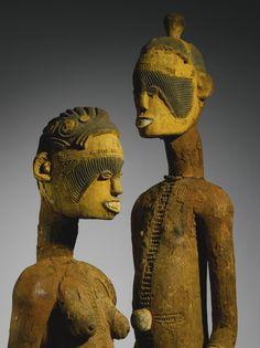 Igbo Tutelary Deity Male and Female Couple, Nigeria | lot | Sotheby's