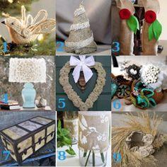 Lots of fun burlap crafts via favecraftsblog.com