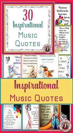Music Posters: Quotes for Bulletin Boards and Classrooms Music Quotes! Display in your music classroom. Music Education Quotes, Music Quotes, Music Sayings, Physical Education, Health Education, Special Education, Singing Lessons, Music Lessons, Violin Lessons