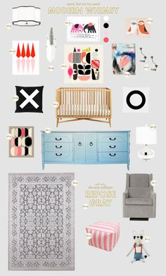 Lay Baby Lay: modern whimsy - sweet, not too sweet decor for kids room/nursery.