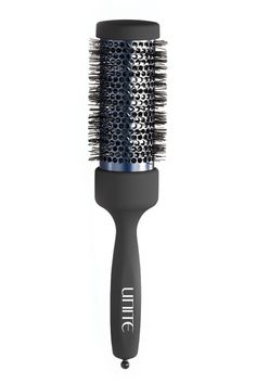 Sturdy enough to grab even the slipperiest strands, but gentle enough for cob-web fine hair, this perforated barrel is the key to the ultimate blowout. Unite Pro-Systems 60MM Round Brush, $56, unitehair.com.   - HarpersBAZAAR.com