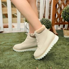 (27.32$)  Buy here  - Female winter 2014 new short plush ankle boots warm thick artificial snow shoes Lady fashion plus size 34-47  XY092