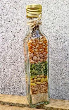 Diy Bottle, Bottle Art, Wine Bottle Crafts, Rope Crafts, Diy And Crafts, Deco Nature, Jar Art, Diy Kitchen Decor, Decorated Jars