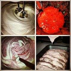 Really easy DYI homemade icecream as seen in Woman's Day magazine. No machine needed. 1 can condensed milk. 1 pint heavy cream. 8oz of cream cheese. Teaspoon and a half of vanilla. 8oz of puréed strawberries. Blended and froze for 8 hours. Then, serve with some fresh strawberries cut up!