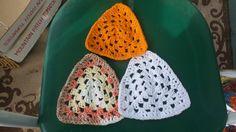 Crocheted washcloths, set of three granny triangle kitchen dishcloth,crochet dishcloths, kitchen dishcloths by SandSCraftsandMore on Etsy
