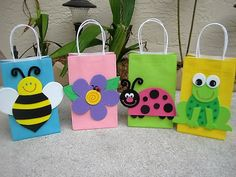 Garden Party Favor Bags by christinescritters on Etsy