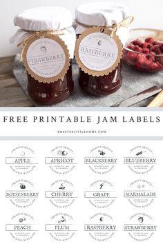 Honey Jar Labels Template New Free Printable Vintage Jam Jar Labels Jam Labels Honey Jar Labels, Jam Jar Labels, Canning Jar Labels, Jam Label, Vintage Canning Labels, Jam Recipes, Canning Recipes, Baby Food Recipes, Jam Packaging