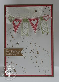 card using Stampin' Up! Language of Love stamp set by Chantal Caste