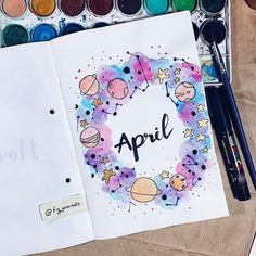 That's a wrap, see ya later April! April Bullet Journal, Bullet Journal Cover Ideas, Bullet Journal Lettering Ideas, Bullet Journal Banner, Bullet Journal Notebook, Bullet Journal School, Bullet Journal Inspo, Bullet Journal Ideas Pages, Journal Covers