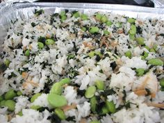 Edamame rice: Super quick and easy, good for parties. (Photo by me, recipe at Star-Bulletin.com.)