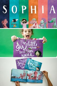 Sophia met a Squid, an Ostrich, a Princess, a Hippo, an Imp and an Aardvark in her magical and marvelous Lost My Name story. Who will your child meet on their personalized adventure? | Lost My Name personalized children's books are the ideal gift for little ones
