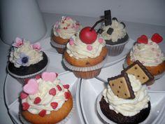 cupcake con frosting al masacarpone