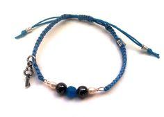 Handmade blue macram