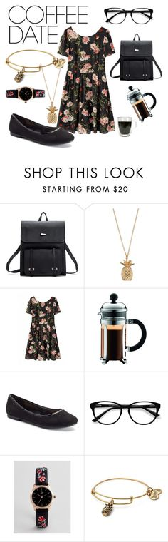 """coffee date"" by ideallynapping ❤ liked on Polyvore featuring Bodum, LC Lauren Conrad, EyeBuyDirect.com, ASOS, Alex and Ani and CoffeeDate"