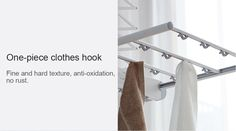 Smart Clothes Dryer from Xiaomi Youpin- White Clothes Hooks, Clothes Dryer, Smart Outfit, Laundry Room, Dryer, Elegant Outfit, Laundry Rooms, Laundry