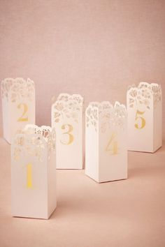Lasercut Table Number Luminaries in Sale Décor at BHLDN
