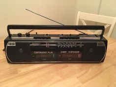 #Vintage #sharp stereo boom box hi-fi #sound system retro tape radio 1980s g1 vin,  View more on the LINK: 	http://www.zeppy.io/product/gb/2/381889771664/