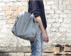 Big Pacco bag torebka jasnoszara teksturowana - cocoono - Torby weekendowe