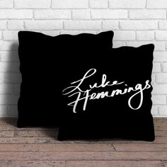 This is Luke Hemmings Sign 5SOS pillow cushion -Removable poly/cotton cover pillows are soft and wrinkle free. -Hidden zipper enclosure. -Do not include insert. -Finished with a black or white back. -