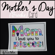 Browse over 560 educational resources created by Erica Bohrer in the official Teachers Pay Teachers store. Cute Mothers Day Ideas, Mothers Day Special, Mothers Day Crafts For Kids, Love You To Pieces, L Love You, My Love, Mothers Day Poster, Mothers Day Signs, Mother's Day Theme