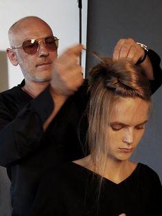 Harper's Bazaar BTS model Mirte Maas hair Nicolas Jurnjack