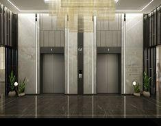 Apartment lift lobby on Behance Office Interior Design, Office Interiors, Lobbies, Elevator Lobby Design, 23 March, Alternative, Public, Behance, Museum