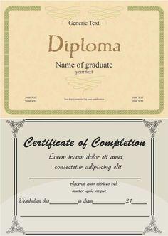 diploma templates vector thumb 450x632 2690 証明書・修了証・証書用のおしゃれなテンプレート   Free Style