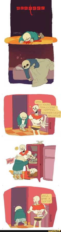 undertale, sans, papyrus<------ Sans really cares about Papyrus though ( ;-;)