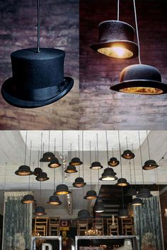 Hanging feature with LED/battery lighting - Silent Movie Themed Wedding