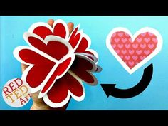 3D Pop Up Heart Card DIY - Alternative Explosion Card - Circular Heart Card - Easy Valentines DIY - YouTube
