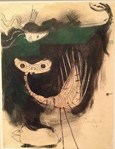 Constant Nieuwenhuys, fantastische dieren, 1948
