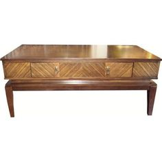 chinese ming-style elmwood coffee table - distressed black