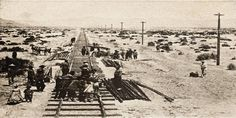 On April 145 years ago this Monday, Chinese and Irish labourers working on the First Transcontinental Railroad in the USA laid 10 miles of track in a single day. It was a feat which has never been matched. Old Pictures, Old Photos, Central Pacific Railroad, Diorama, Hell On Wheels, Railroad History, California History, Le Far West, Train Tracks