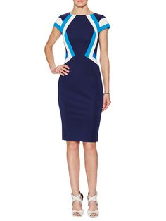 Natalie Colorblocked Sheath Dress from ZAC Zac Posen on Gilt