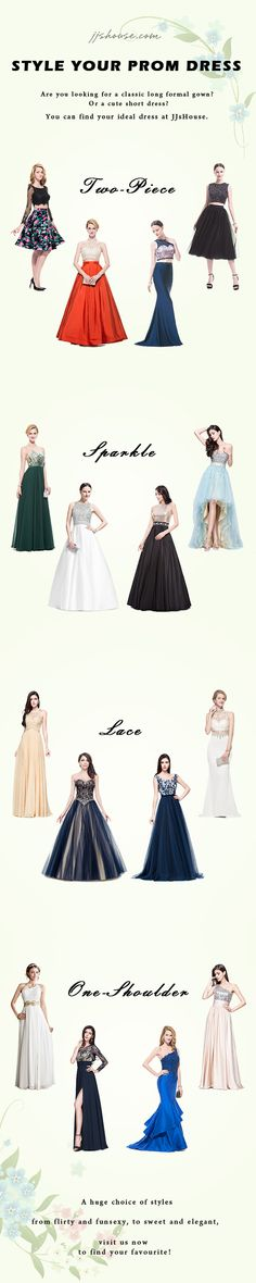 3aab94b6944c8 Prom Season is coming! Find your favorite style at JJsHouse! Which reflects  you best? Two-piece, Sparkle, Lace, One-Shoulder?