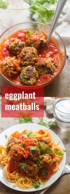 These vegan eggplant meatballs made with tender sautéed eggplant, crispy panko breadcrumbs and Italian seasonings, smothered in rich tomato sauce.