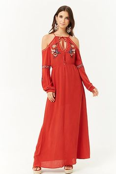 Product Name:London Rose Embroidered Open-Shoulder Dress, Category:dress, Overall Dress, Forever 21 Dresses, Latest Trends, Casual Dresses, Cold Shoulder Dress, Short Sleeve Dresses, Fashion Outfits, London, Clothes