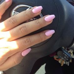 Pink short coffin nails