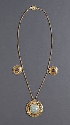 Necklace with Three Pendants, Greece-Roman Empire, 1st 2nd Century AD
