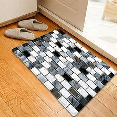 Ceramic Tile Pattern Indoor Outdoor Area Rug