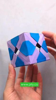 Origami Toys, Instruções Origami, Geometric Origami, Modular Origami, Diy Crafts For Girls, Fun Diy Crafts, Diy Arts And Crafts, Diy Crafts Videos, Easy Paper Crafts