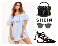 """SHEIN Dress"" by tania-alves ❤ liked on Polyvore featuring Gordana Dimitrijević, Yves Saint Laurent and Ray-Ban"