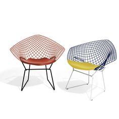 Bertoia Diamond Chair, Two-Tone