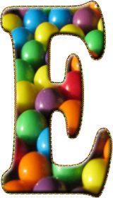 Alfabeto Decorativo: Alfabeto - Doce - PNG