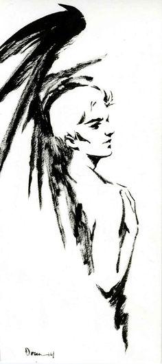 """Lucifer from Neil Gaiman's """"Sandman"""" series. Art by Colleen Doran."""
